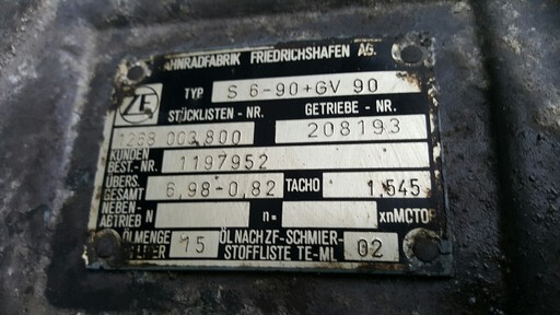 Manual gearbox ZF - S6-90+GV